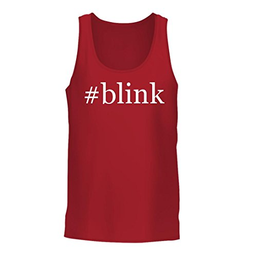 #blink - A Nice Hashtag Men's Tank Top, Red, Large