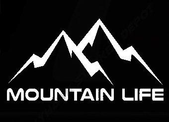 Mountain Life Wanderlust Decal Vinyl Sticker|Cars Trucks Vans Walls Laptop| White |7.5 x 4 (Mountain Life)