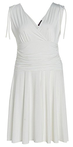 Selfie White L Ladies Vest Dress S Click Grecian Style Cqc1vOv