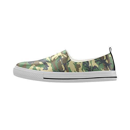 Sneaker Da Uomo In Microfibra Slip-on Camouflage D-story