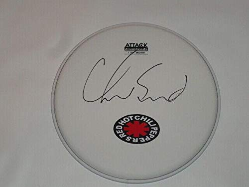 (Chad Smith Signed Drumhead The Red Hot Chili Peppers Drum Head Proof)