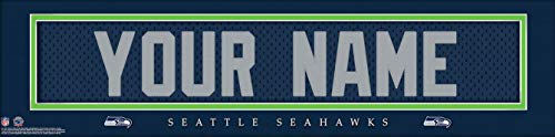 Seattle Seahawks NFL Jersey Nameplate Wall Print, Personalized Gift, Boys Room Decor 6x22 Unframed Poster