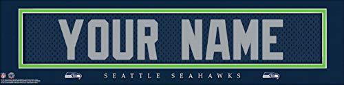 Seattle Seahawks NFL Jersey Nameplate Wall Print, Personalized Gift, Boy's Room Decor 6x22 Unframed - Seahawks Wall Seattle