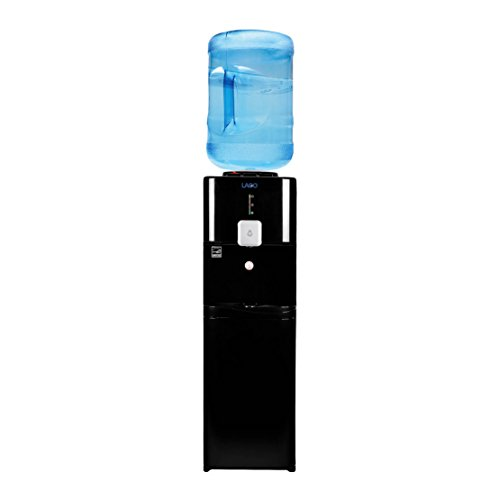 Lago Top Load Hot, Cold & Room Black Water Cooler Dispenser by LAGO