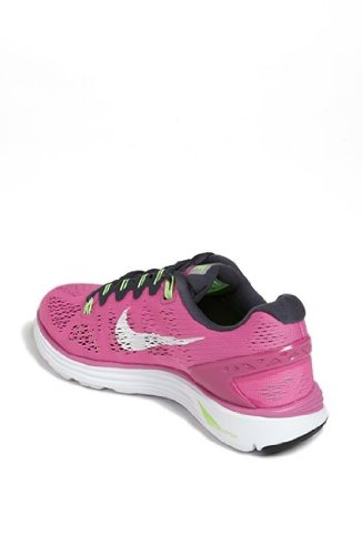 57cc22f1cc51 Women s Nike Lunarglide +5 Running Shoes. Size 12. DISTANCE  BLUE WHITE-FLASH LIME-ATOMIC PINK