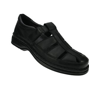 Spring Step Mens Rylan Black Leather Slip-On - 43