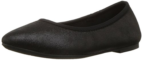Skechers Women's Cleo Sincere Wide Ballet Flat,Black,8.5 W - Flat Ballet Stretch