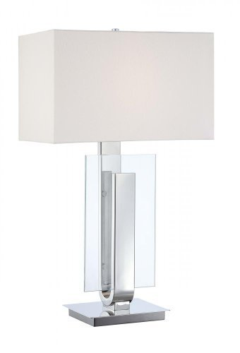 Kovacs P794-613 Energy Smart 1 Light Table Lamp in Polished Nickel by George Kovacs by Kovacs