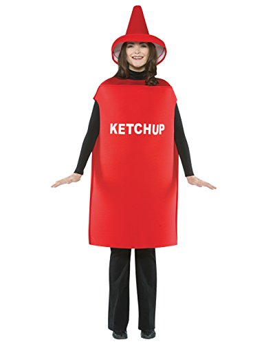 Catsup Bottle Costume (Ketchup Costume Costume - One Size - Chest Size 48-52)