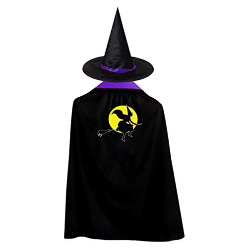 Halloween Children Costume Halloween Witch Wizard Witch Cloak Cape Robe And Hat -