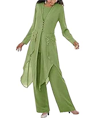 Springplus Women's Chiffon Pant Suits Mother The Bride