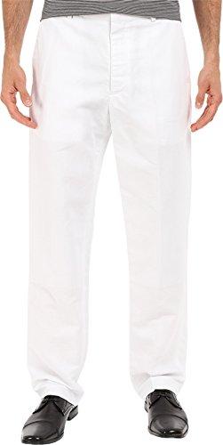 Perry Ellis Men's Standard Linen Suit Pant, Bright White, 30W X 32L - White Slacks