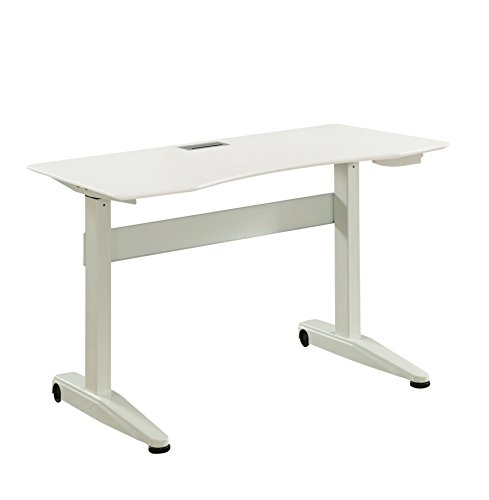 HOMES: Inside + Out L Idf-DK6092WH-L Agate Adjustable Height Desk, Large, White by HOMES: Inside + Out
