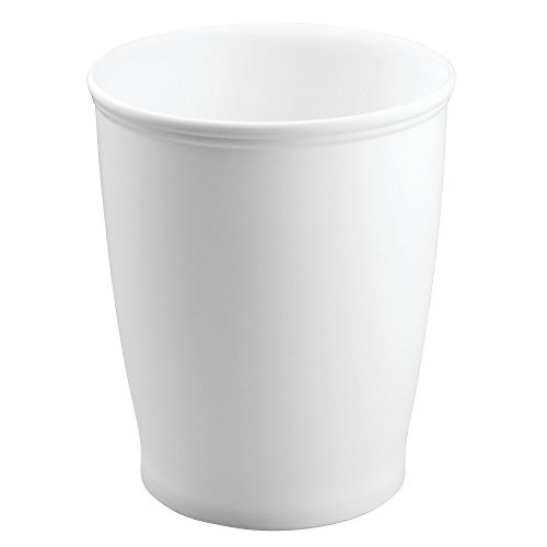 mdesign round shatter resistant plastic small trash can wastebasket garbage container bin for. Black Bedroom Furniture Sets. Home Design Ideas