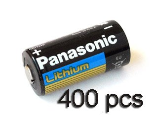 Price comparison product image 400 pcs of Panasonic Lithium CR123A 3V Batteries