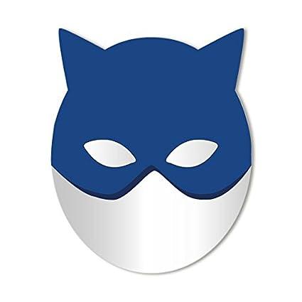 Espejo infantil: Gran Máscara de gato azul