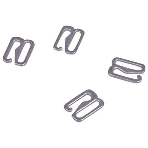 Porcelynne Antiqued Silver Metal Alloy Replacement Bra Strap Hook - 3/8'' (10mm) Opening - 100 Pairs (200 Pieces) by Porcelynne