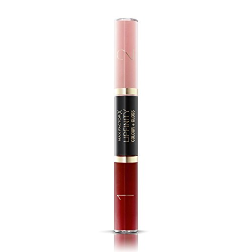 Max Factor Lipfinity Color & Gloss, No. 660 Infinity Ruby, 2 Count (Lasting Factor Lipstick Long Max)