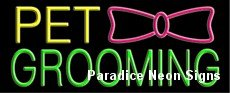 Pet Grooming Neon Sign 13 x 32