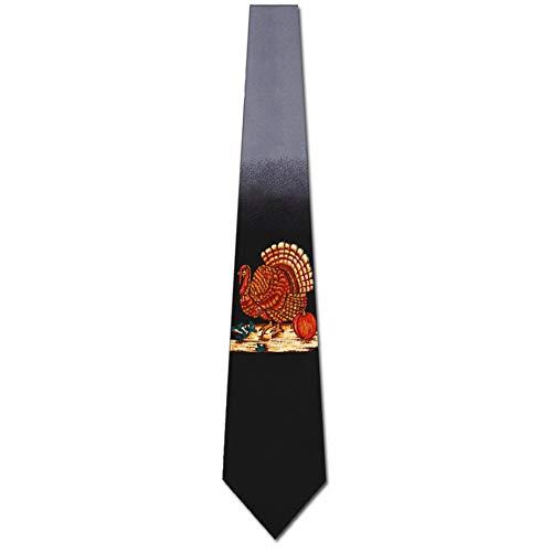 Thanksgiving Turkey Necktie Mens Tie by Three Rooker