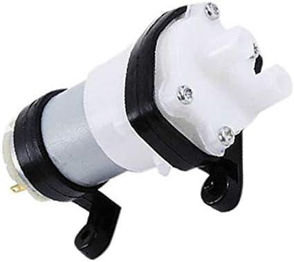 DC6-12V Bomba de diafragma multifunci/ón 385 Bomba de agua con soporte Bomba de acuario Motor para coche Scrub Mini bomba de aceite de grano blanco negro WEIWEITOE