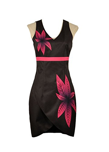 Yejue Hotel Transylvania 3 Mavis Summer Women Flower Prints Dress (Medium Female, -