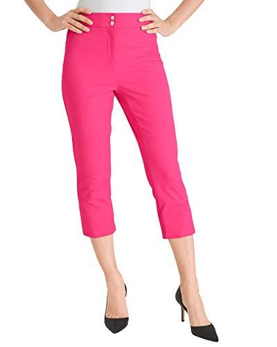(Chico's Women's Secret Stretch Straight-Leg Crops Size 14 L (2.5) Pink)