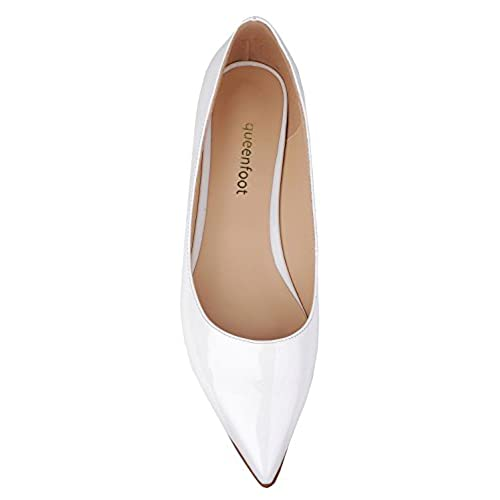 well-wreapped queenfoot  Pump6002, Mocassins pour femme - - B-White patent,