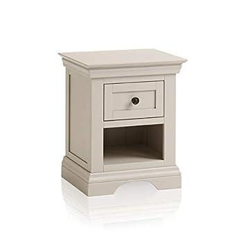 Oak Furniture Land Arlette Grey 1 Drawer Bedside Table In Painted
