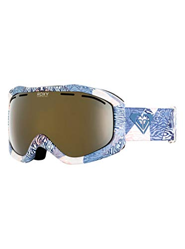 - Roxy Womens Sunset Art Series - Ski/Snowboard Goggles - Women - One Size - Blue Powder Blue_Animal Geo One Size