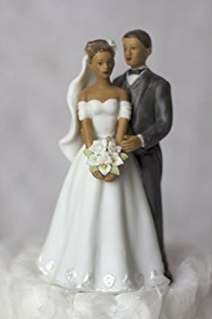 Wedding Collectibles Elegant African American Couple Small Wedding Cake Topper