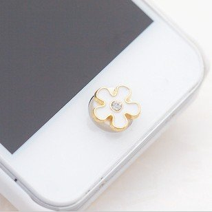 Crystal Flower Daisy Home Return Keys Buttons Sticker For iPhone 4S iPhone 5 iPod Touch iPad Repair Fix Replace Replacement