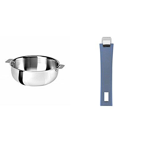 Cristel SR22QMP Saucier, Silver, 3 quart with Cristel Mutine Pmabl Handle, Long, Lavender by