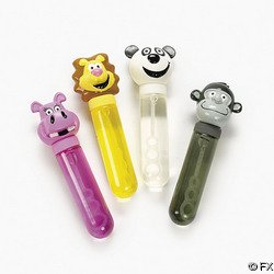 (12 Big Zoo Animal Character Bubble)