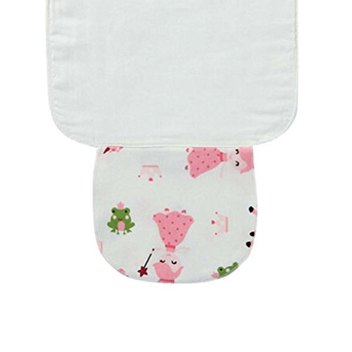 3 PCS Simple Cartoon Cotton Towels for Baby Sweat Absorbent, 25.5x20 cm