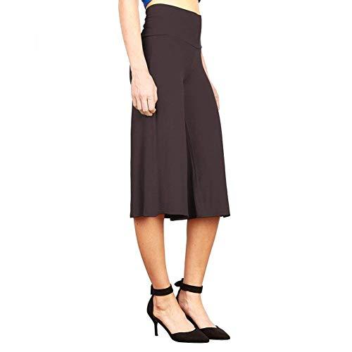 Pantaloni Damigella Moda Pants Libero Marrone Monocromo Pantaloni Capri Primaverile Autunno Pantaloni Pantalone Tempo Colpo Casual High Waist Eleganti Larghi Pantaloni Donna TqU4AT