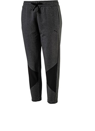 PUMA Womens Relaxed Cropped Sweatpants Gray XL ()