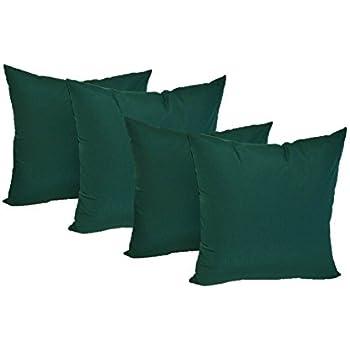 Amazon.com: Hunter Green Cotton Velvet Decorative Throw Pillow Cover - 18 x18