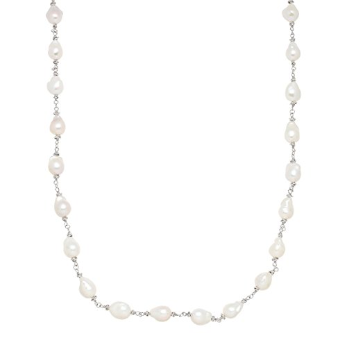 Honora 11-12mm Baroque Freshwater Cultured Pearl Swirl Strand Necklace in Sterling Silver
