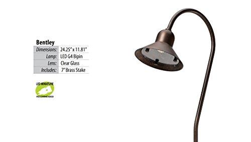 Bentley LED Path & Area Light - Brass Fixture by Illumicare