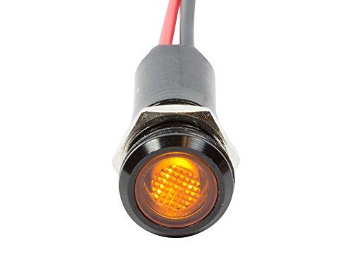 Alpinetech PLB12M 12mm 1/2 120V AC LED Metal Signal Indicator Pilot Dash Light (Yellow)