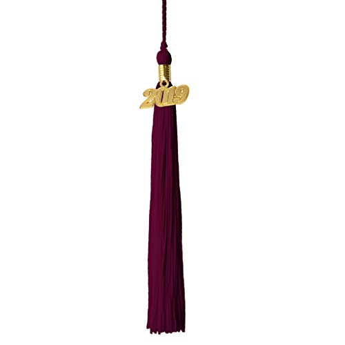 Class Act Graduation Maroon Graduation Tassel with 2019 Gold -