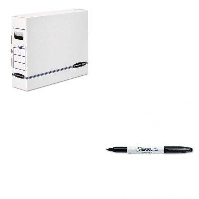 Bankers Box X-ray (KITFEL00650SAN30001 - Value Kit - Bankers Box X-Ray Storage Box (FEL00650) and Sharpie Permanent Marker (SAN30001))