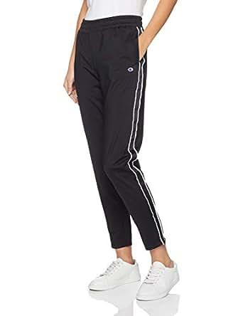 Champion Women's Track Pant, Black/White, Small