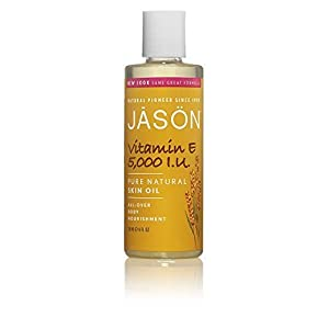 Jason Skin Care Vitamin E Oil 5,000 I.U. 4 fl. oz. Pure & Natural Beauty Oils (a) - 2pc