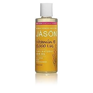 Jason Skin Care Vitamin E Oil 5,000 I.U. 4 fl. oz. Pure & Natural Beauty Oils (a) - 2pc