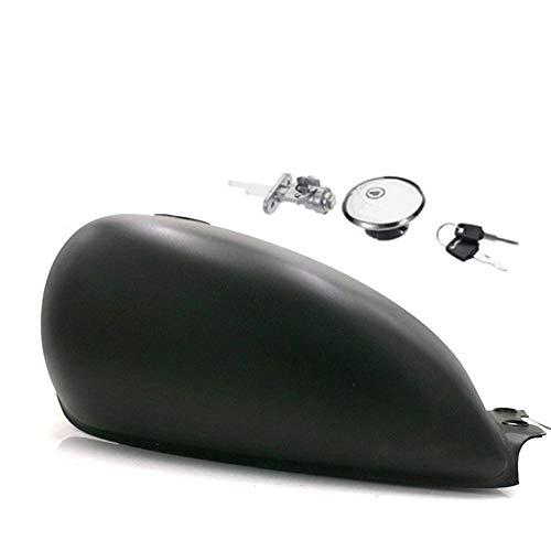Noir mat R/éservoir dessence Cafe Racer haute performance R/éservoir universel /à r/éservoir de fer BOBBER pour Suzuki GN125 GN250 GN facile /à installer