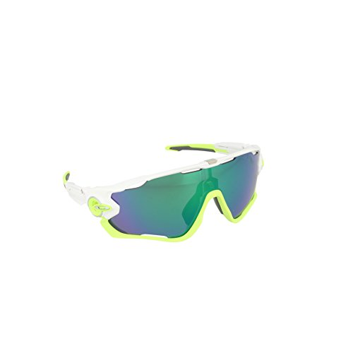 Oakley Men's Jawbreaker OO9290-03 Shield Sunglasses, Polished White, 131 - Oakley New Sunglasses