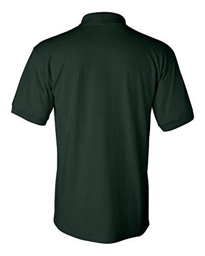 Uber Driver New Logo Mens Gildan Jersey Sport Polo T Shirt Forest Green