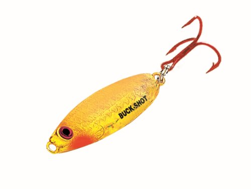 Northland BRS4-29 1/4-Ounce Buck-Shot Rattle Spoon, Super Glow Goldfish ()